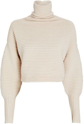 Victoria Victoria Beckham Cross Back Wool Turtleneck Sweater