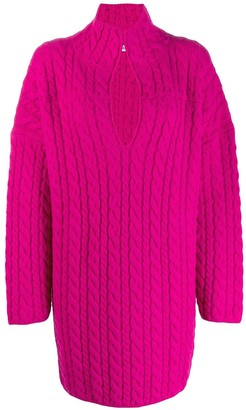 Balenciaga oversized cable-knit jumper