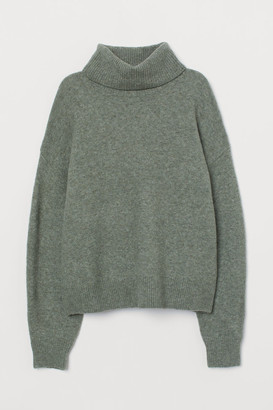 H&M Knit Turtleneck Sweater - Green