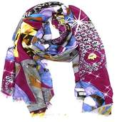 La Fiorentina Women's Scarf With Abstract Print.