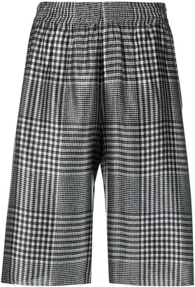 MM6 MAISON MARGIELA Prince of Wales check patterned cropped trousers