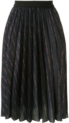 PortsPURE Logo-Print Pleated Midi Skirt