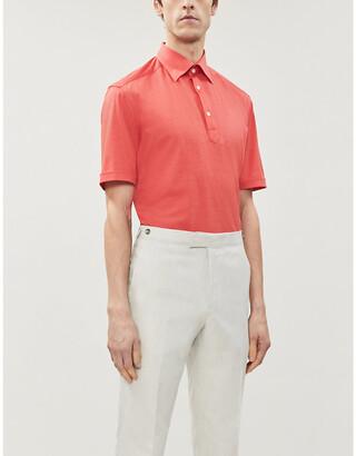 Eton Short-sleeve cotton-pique polo shirt