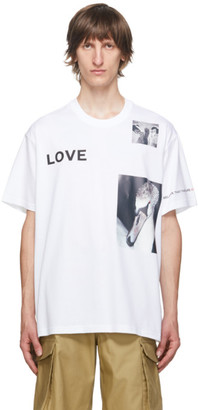 Burberry White Love Swan T-Shirt