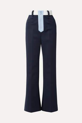 Miu Miu Tech-jersey Wide-leg Pants - Navy
