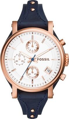 Fossil Women's Original Boyfriend Quartz Leather Chronograph Watch