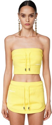 DSQUARED2 Logo Print Jersey Crop Top