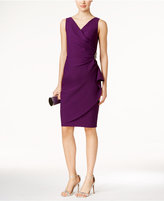 Alex Evenings Petite Compression Embellished Ruched Sheath Dress