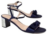 Kate Spade Monna Blue Satin & Crystal Heel Sandals