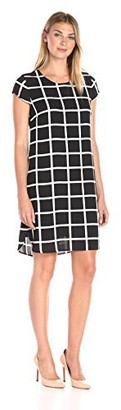 Lark & Ro Amazon Brand Women's Dresses Cap Sleeve Printed Shift Dress