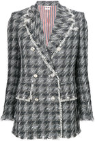 Thom Browne frayed fitted jacket