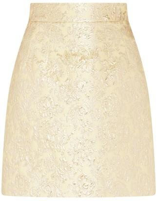 Dolce & Gabbana Floral Jacquard Mini Skirt