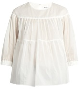 Muveil Tiered pleated cotton top