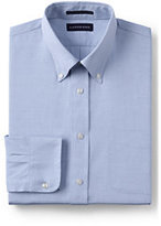 Classic Men's Big and Tall Long Sleeve Buttondown Supima Pinpoint Shirt-White