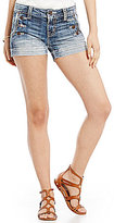 Miss Me Classic Button Woven Stretch Denim Shorts