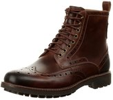 Clarks Montacute Lord Laceup Boots Dark Tan