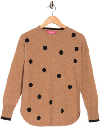 Polka Dot Cashmere Pullover Sweater