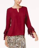 Thalia Sodi Lace-Cuff Keyhole Blouse, Created for Macy's