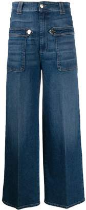 Pinko flared cropped jeans