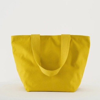 Baggu Canvas Zip Tote Citron
