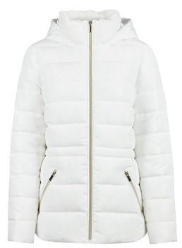 Dorothy Perkins Womens White Faux Fur Collar Padded Coat, White
