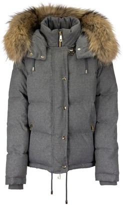 Fay Fur Down Jacket