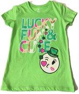 WMS Lucky Fun & Cute St Patrick's Girls T-Shirt M 7-8