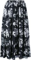 Kenzo printed full skirt - women - Silk/Polyester - 36