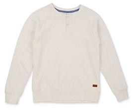7 For All Mankind Boys' Cotton Long-Sleeve Henley Tee - Big Kid