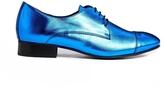 Lennox Blue Brogue Flat Shoes