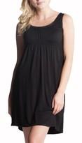 Women's Savi Mom Oxford Maternity/nursing Nightgown
