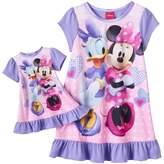 Disney Disney's Minnie Mouse & Daisy Duck Toddler Girl Ruffled Nightgown & Doll Dress Set