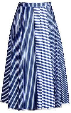 Beatrice. B Women's Multi-Stripe A-Line Skirt