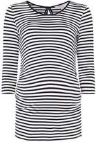 Dorothy Perkins **Maternity Blue Striped Bow Back Top