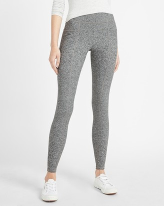 Express High Waisted Heathered Patch Pocket Leggings