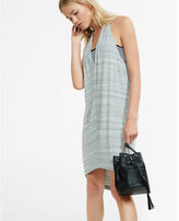 Express marled draped racerback dress