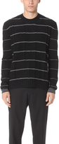 McQ Alexander McQueen Pin Stripe Crew Neck Sweater