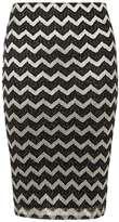 Dorothy Perkins Petite Zigzag Shimmer Skirt