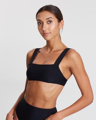 BONDI BORN Women's Black Bikini Tops - Anja II Square Neck Bikini Top - Size One Size, 6 at The Iconic