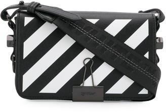 Off-White Diag Binder Clip cross body bag