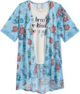 Belle Du Jour 2-Pc. Tank Top & Floral-Print Kimono Set, Big Girls