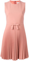 RED Valentino pleat skirt dress - women - Polyester/Spandex/Elastane/Viscose - 44