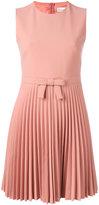 RED Valentino pleat skirt dress - women - Viscose/Polyester/Spandex/Elastane - 44