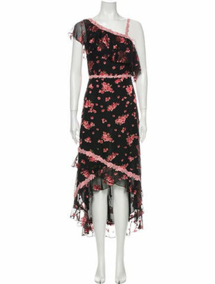 Alice + Olivia Silk Long Dress w/ Tags Pink