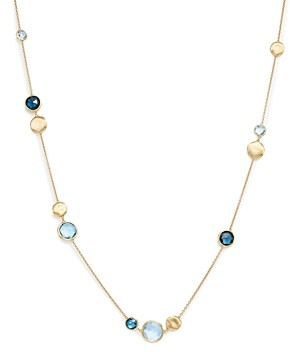 Marco Bicego 18K Yellow Gold Jaipur Mixed Blue Topaz Collar Necklace, 16 - 100% Exclusive