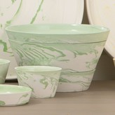 The Well Appointed House Global Views White and Green Serving Bowl-Set of Three