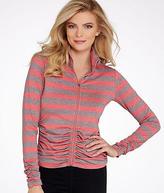 Calvin Klein Striped Ruched Jacket, Activewear - Women's