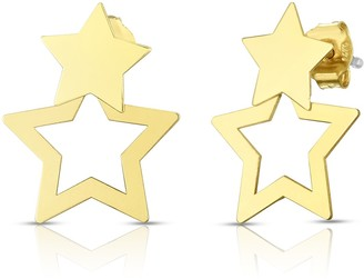 Sphera Milano 14K Yellow Gold Double Star Stud Earrings