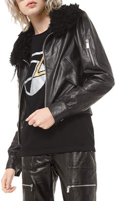 Michael Kors Embroidered Moto Jacket