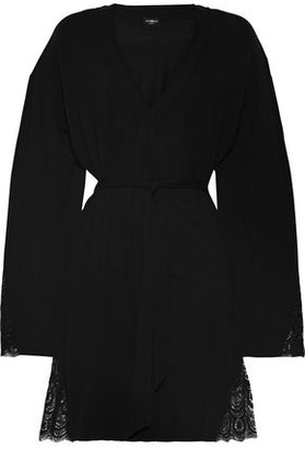 Cosabella The Brooklyn Lace-trimmed Modal-blend Jersey Robe